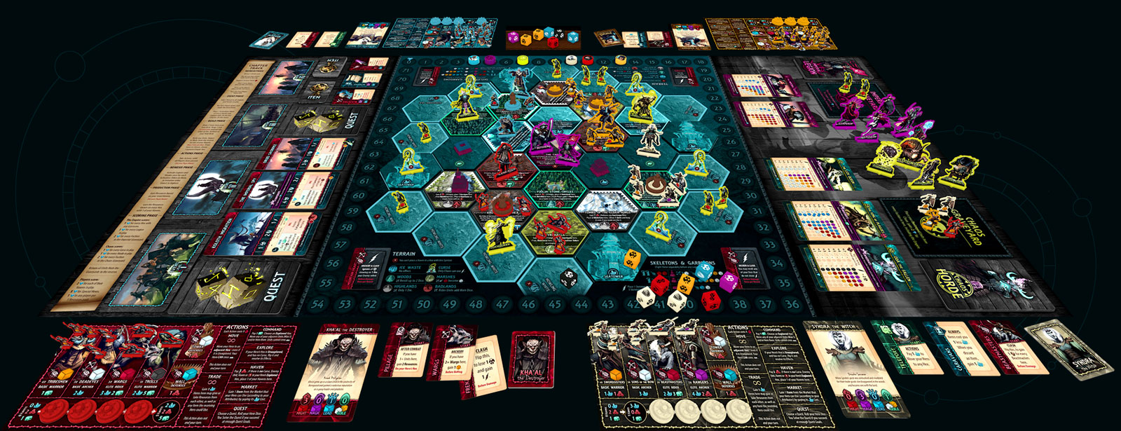 Uprising Curse of the Last Emperor Game Setup